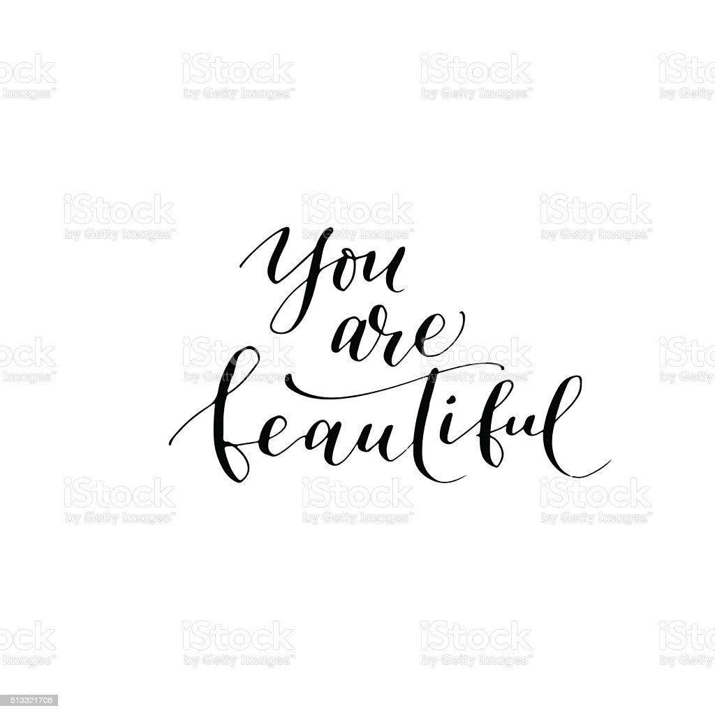 You are beautiful card. vector art illustration