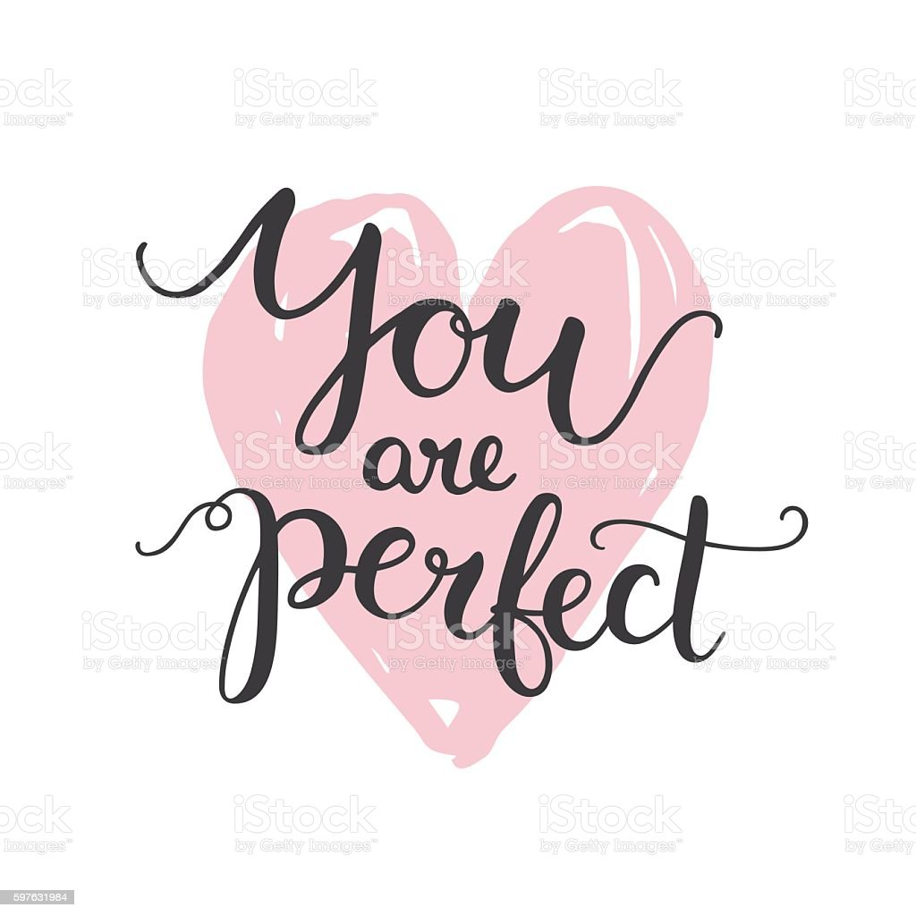 You are perfect vector art illustration