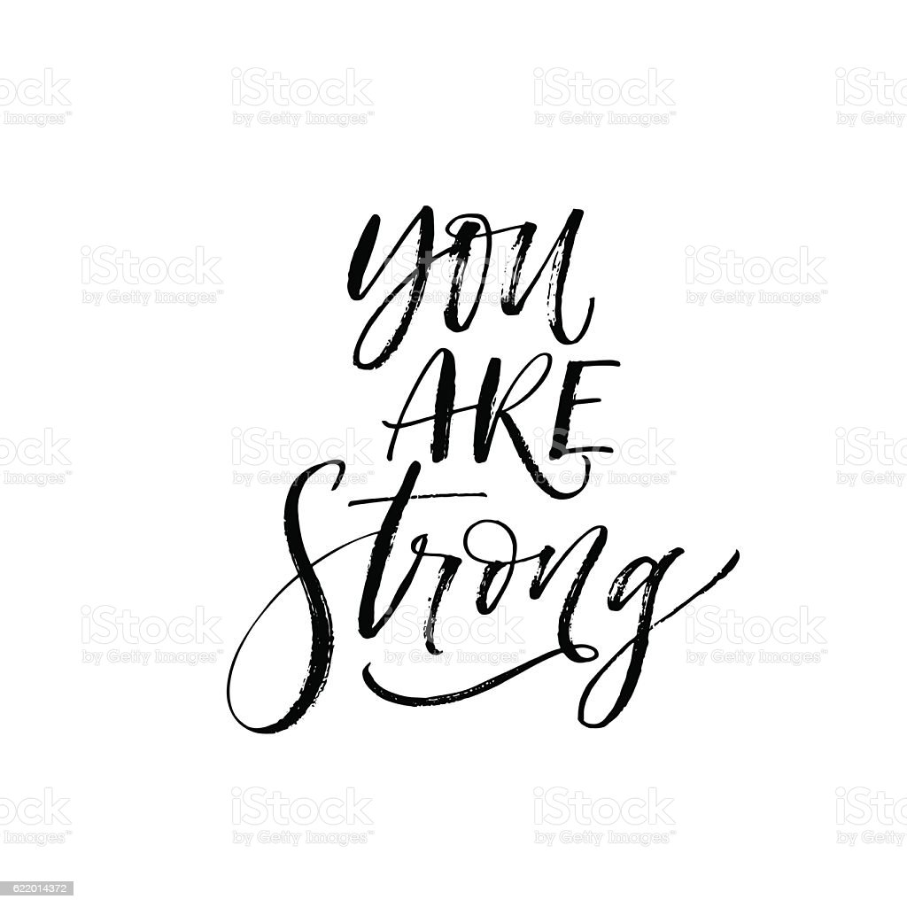 You are strong card. vector art illustration
