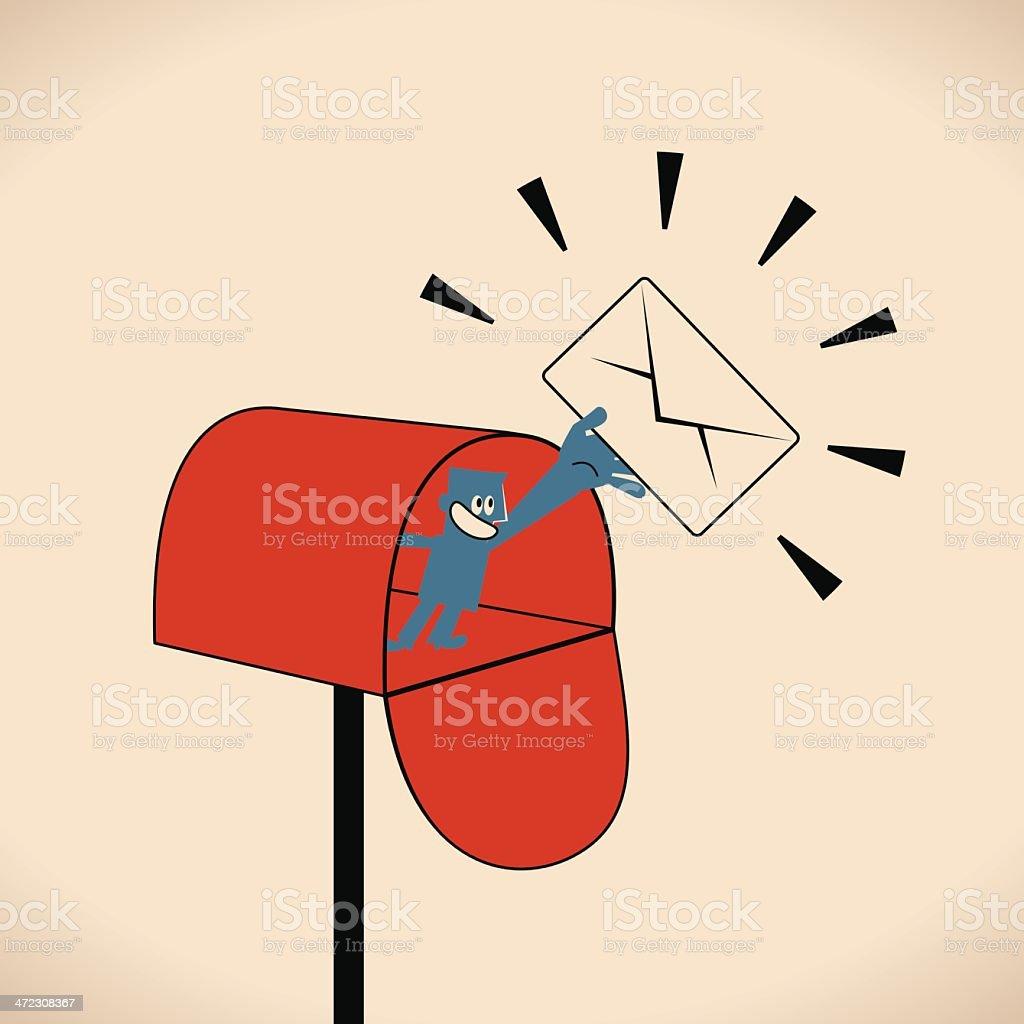 You Have Got Mail vector art illustration