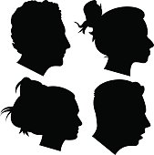 Young Adult Profile Silhouettes 1