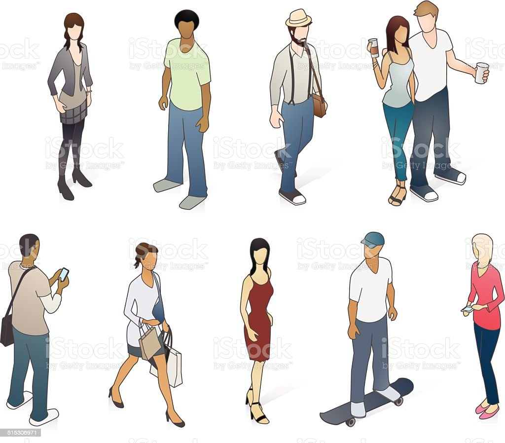 Young Adults Illustration vector art illustration