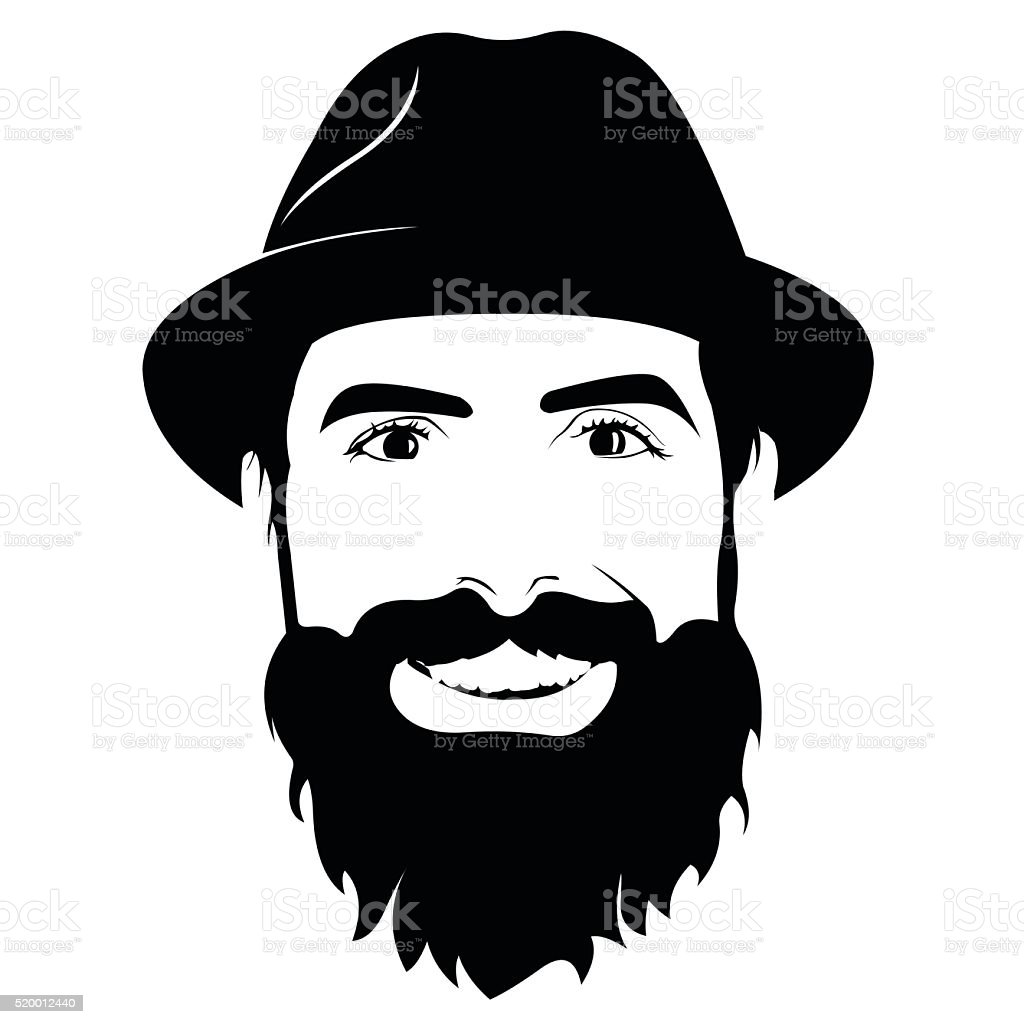 Man With Salt And Pepper Beard In Black And White High-Res ...