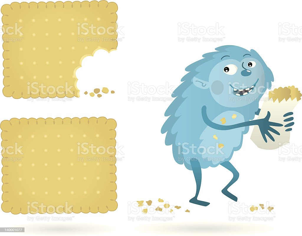 young Biscuitmonster vector art illustration