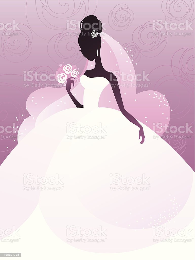 Young bride silhouette royalty-free stock photo