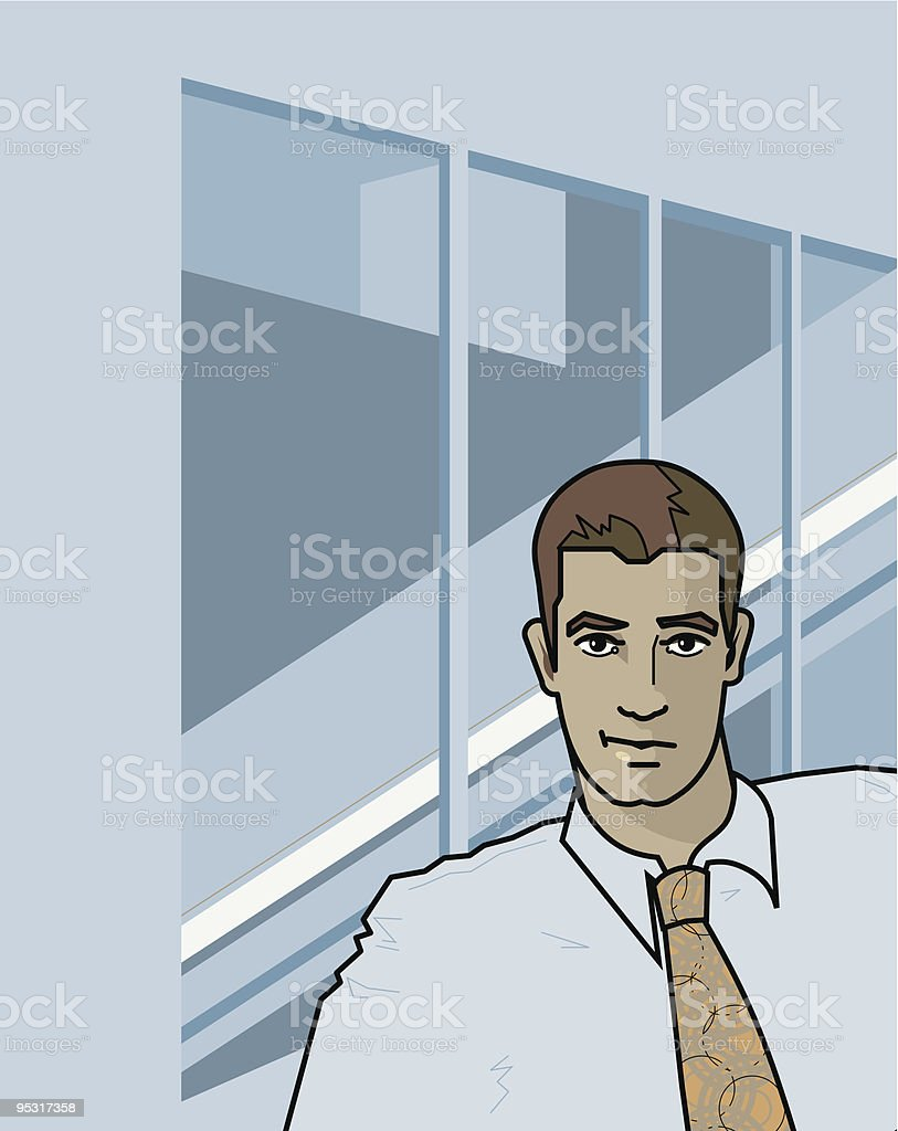 young business man royalty-free stock vector art