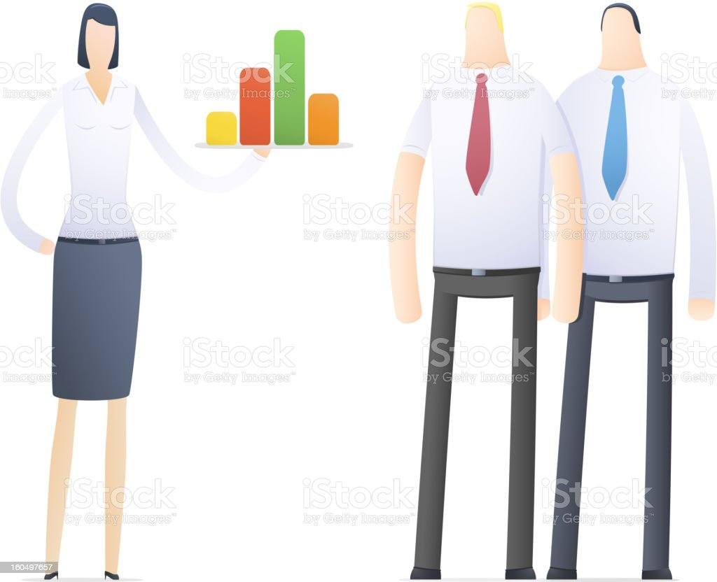 young business woman making presentation royalty-free stock photo