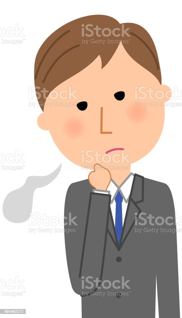 Young businessman,Sigh vector art illustration