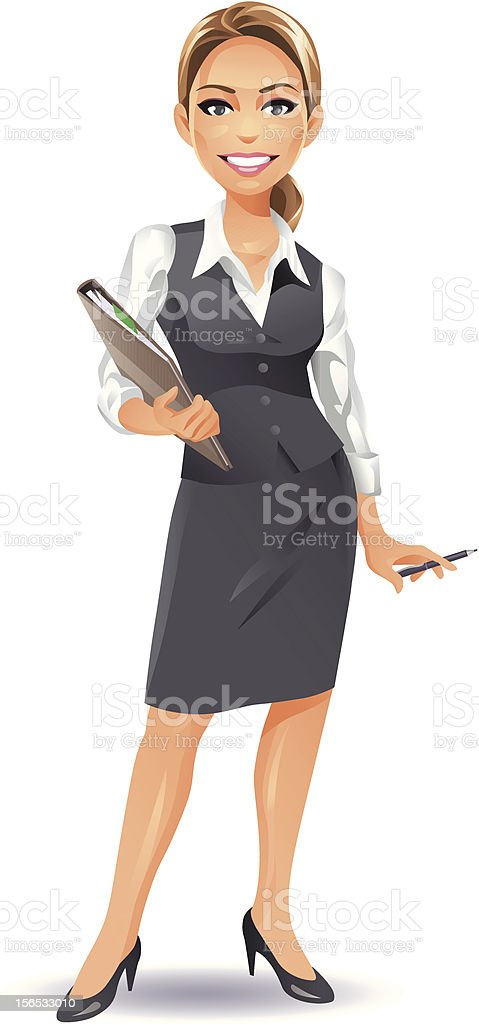 Young Businesswoman (blonde) vector art illustration