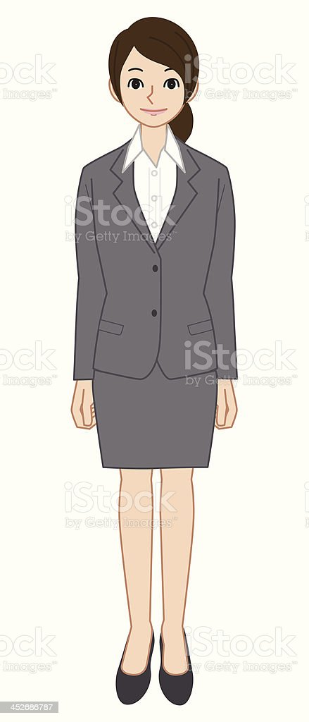 Young Businesswoman vector art illustration