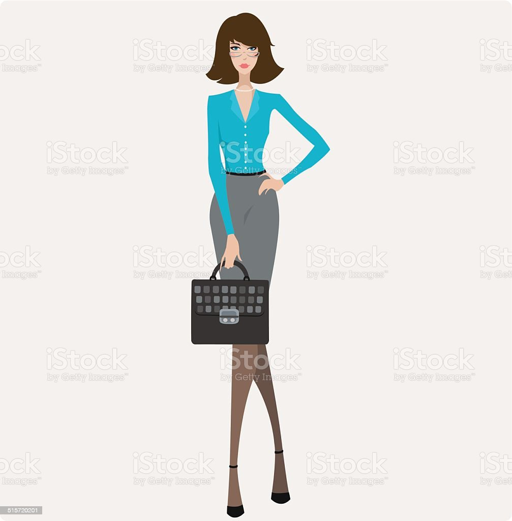 Young Businesswoman royalty-free stock vector art