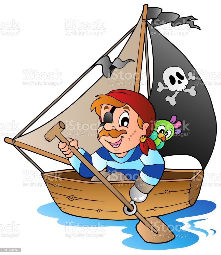 Young cartoon pirate 1 royalty-free stock vector art