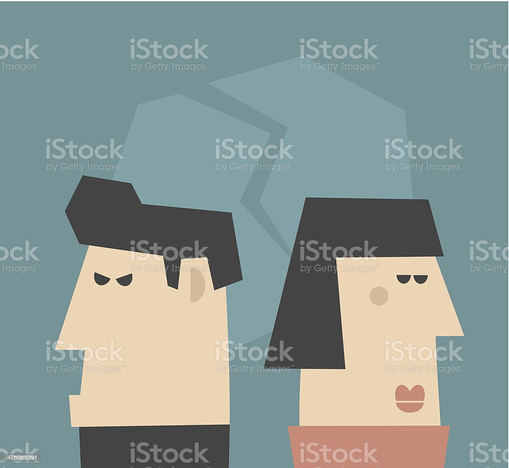 Young couple  having relationship problems. royalty-free stock vector art