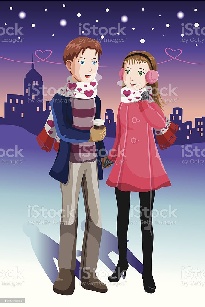 Young couple royalty-free stock vector art