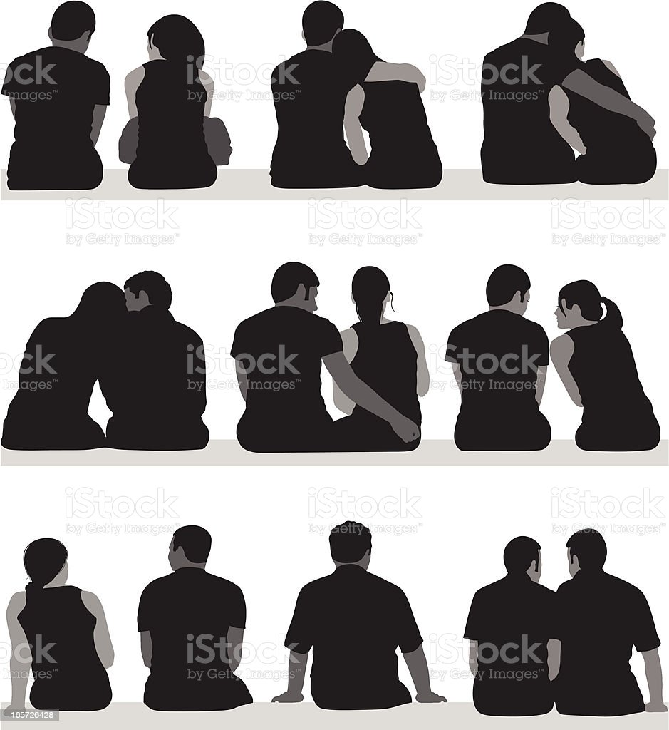 Young Couples royalty-free stock vector art