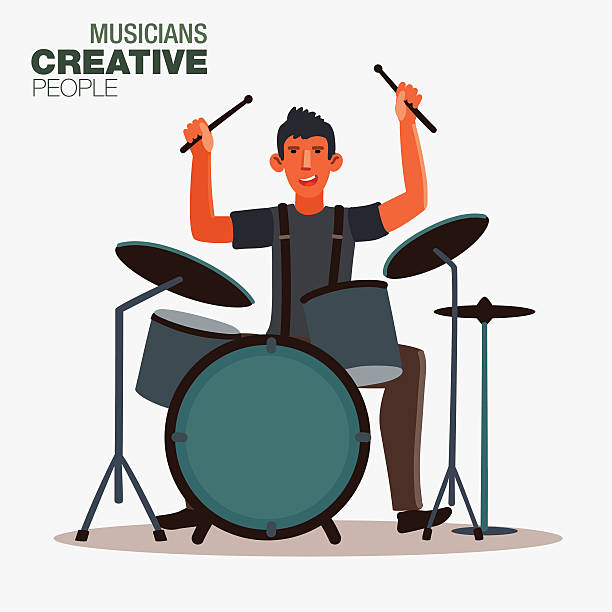 Drum Kit Clip Art, Vector Images & Illustrations - iStock