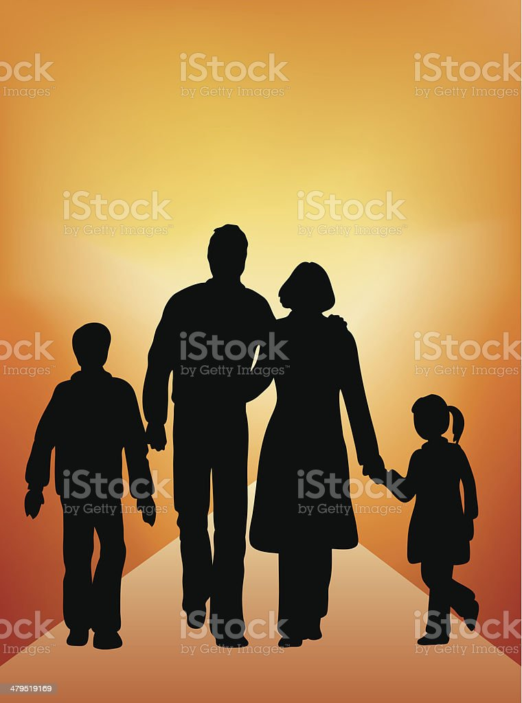 Young family (vector) royalty-free stock vector art