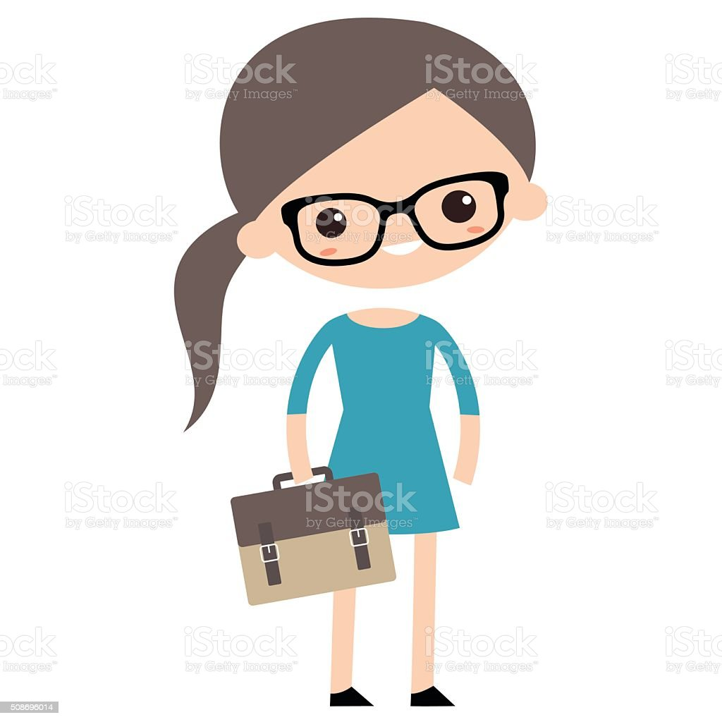 Young geek vector art illustration