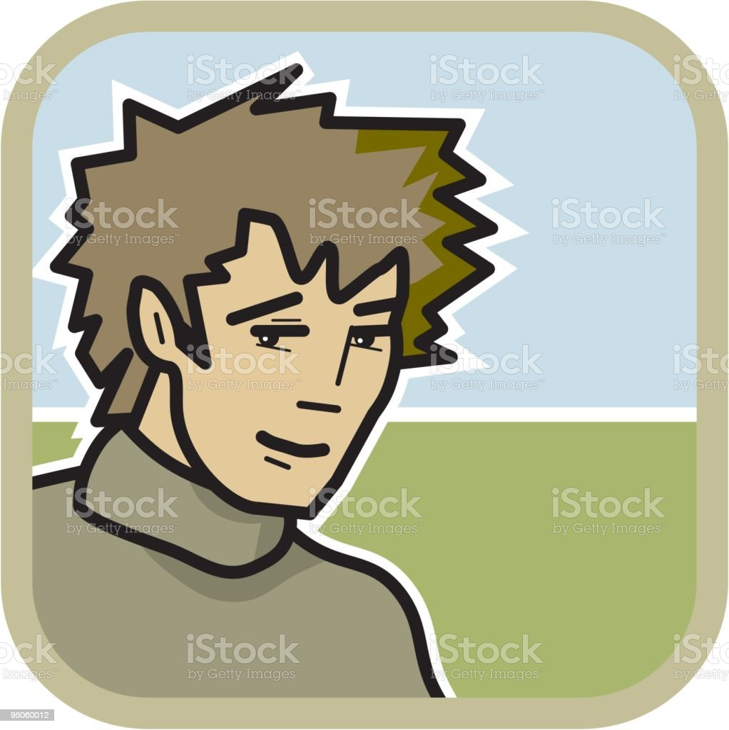 young guy with turtleneck royalty-free stock vector art