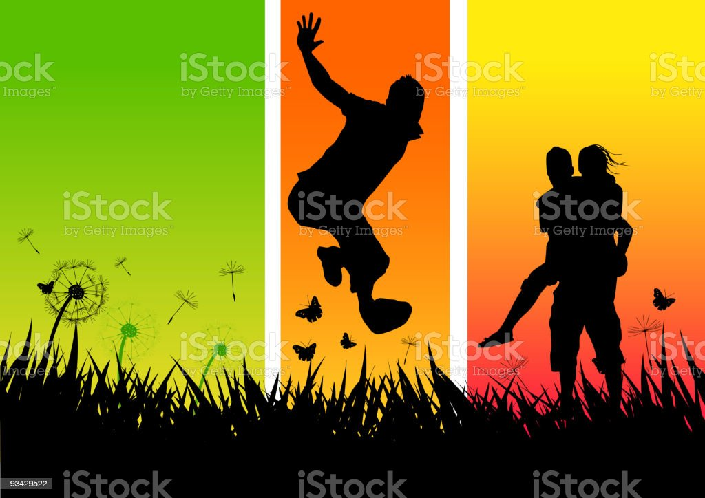Young happy People royalty-free stock vector art