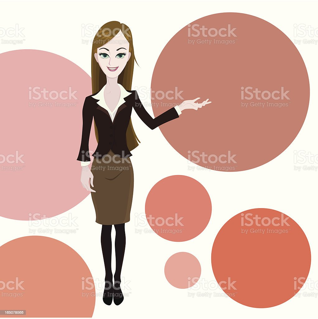 young lady the reporter royalty-free stock vector art