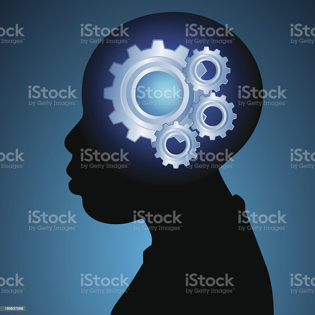 Young minds gears royalty-free stock vector art