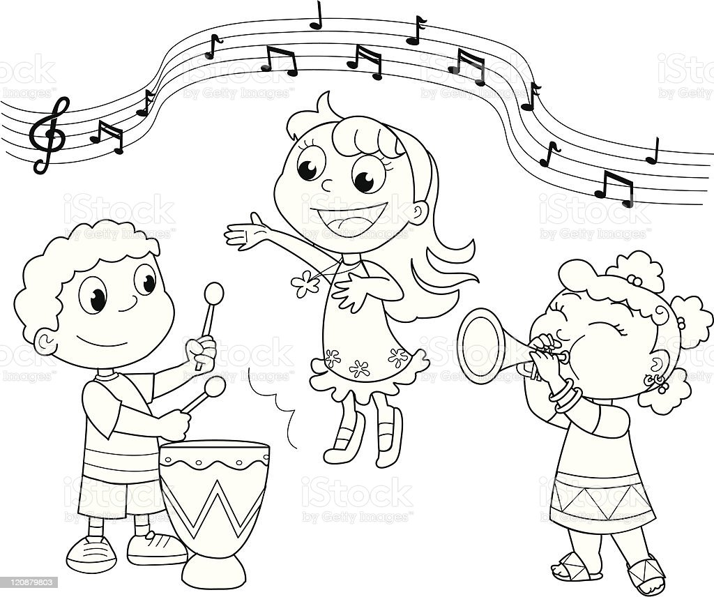 Young Music band royalty-free stock vector art