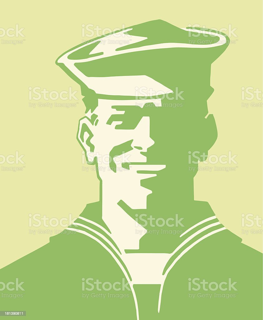 Young Sailor vector art illustration