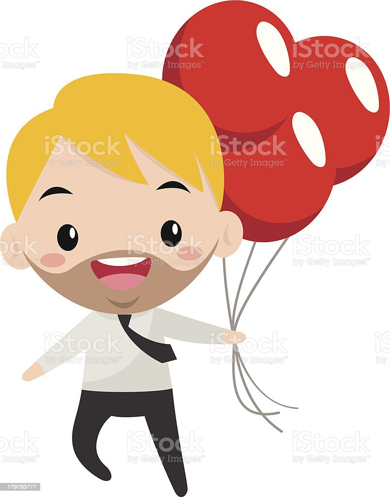 Young smiling manager royalty-free stock vector art