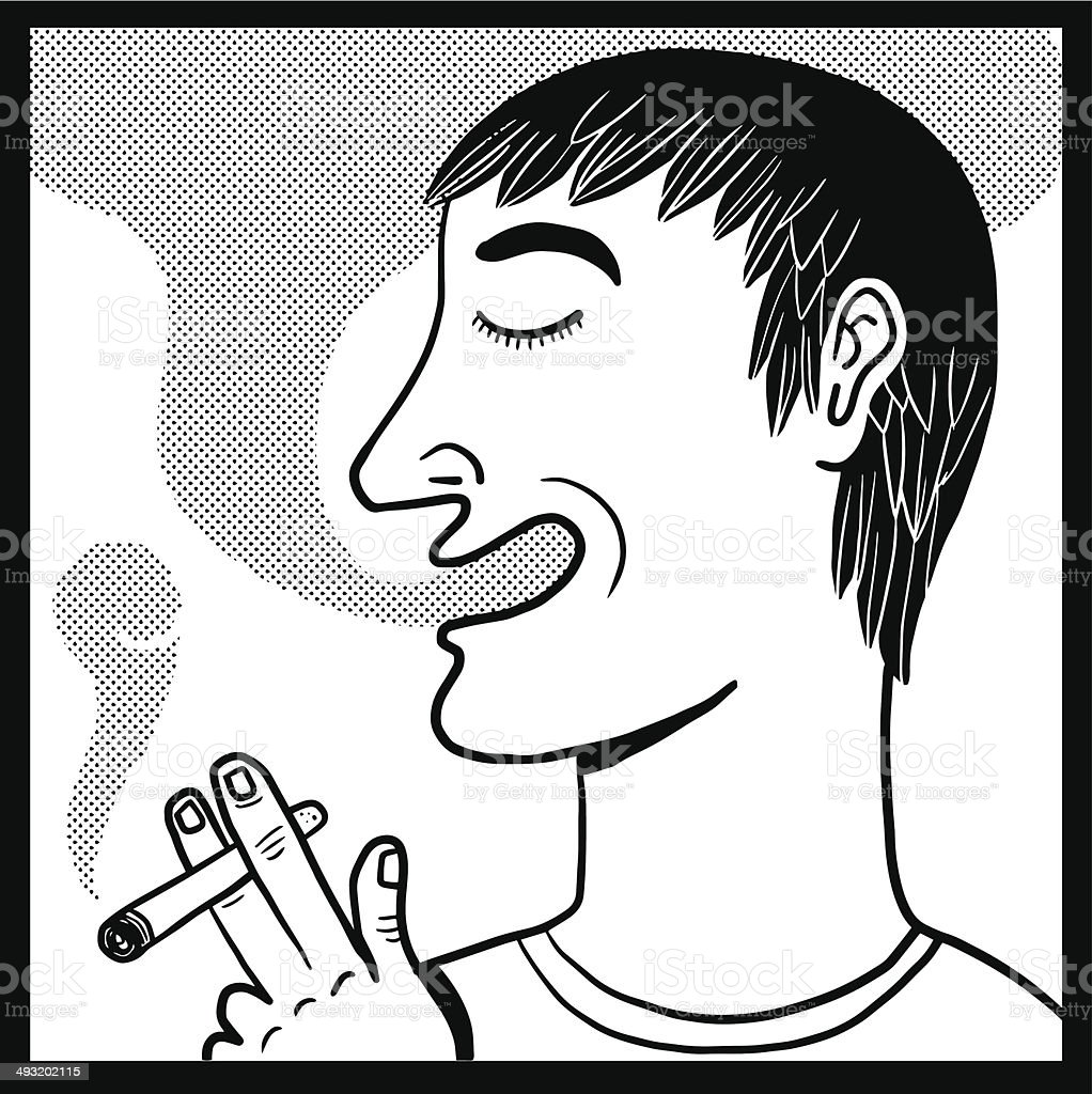 Young smoker royalty-free stock vector art