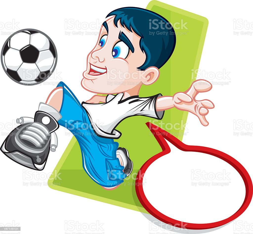 young soccer player royalty-free stock vector art