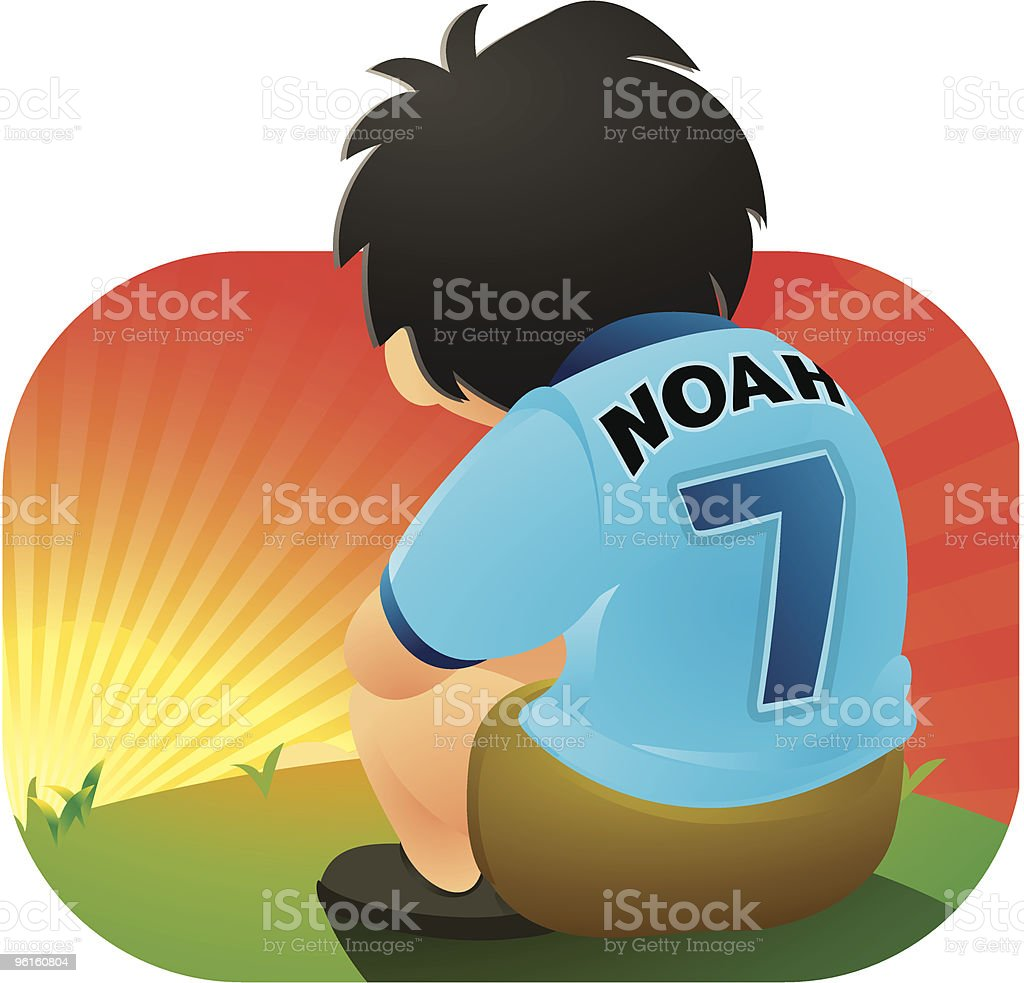 Young Soccer Player vector art illustration