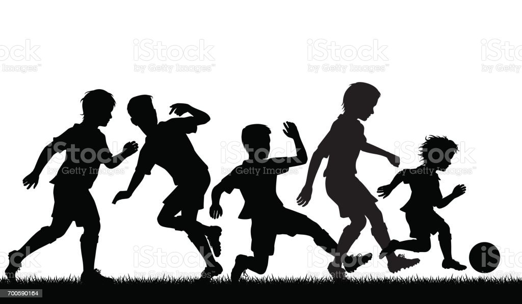 Young soccer talent vector art illustration