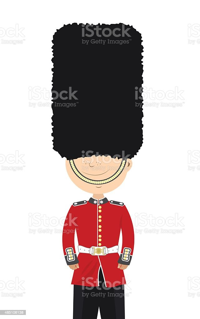 Young soldier on his duty vector art illustration