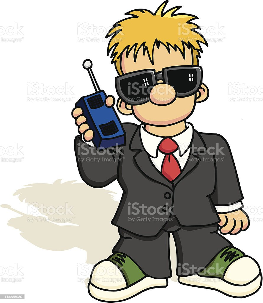 Young Spy 2 royalty-free stock vector art