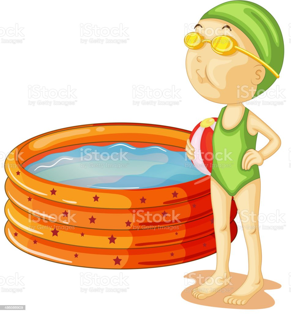 young swimmer royalty-free stock vector art