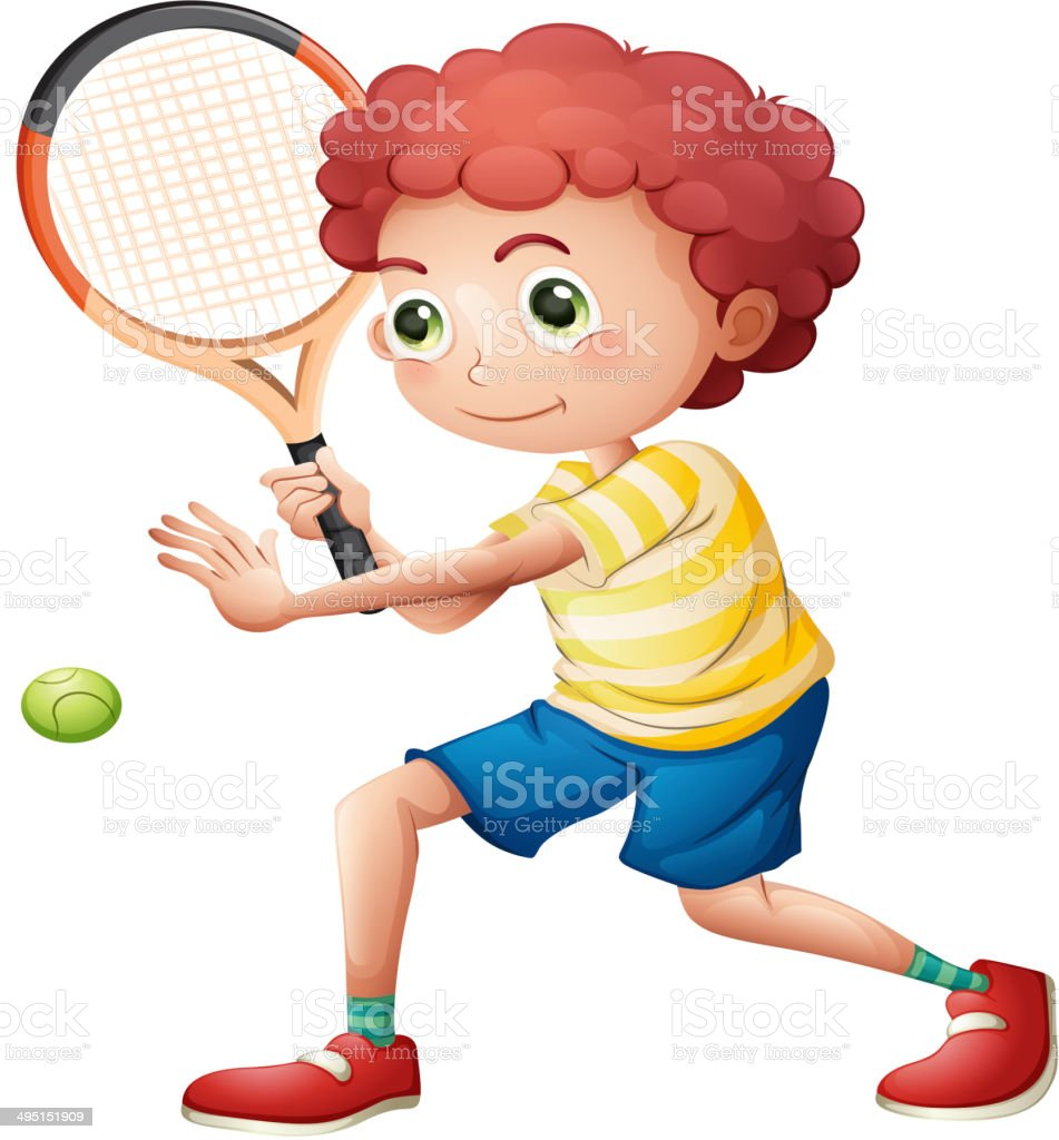 Young tennis player royalty-free stock vector art