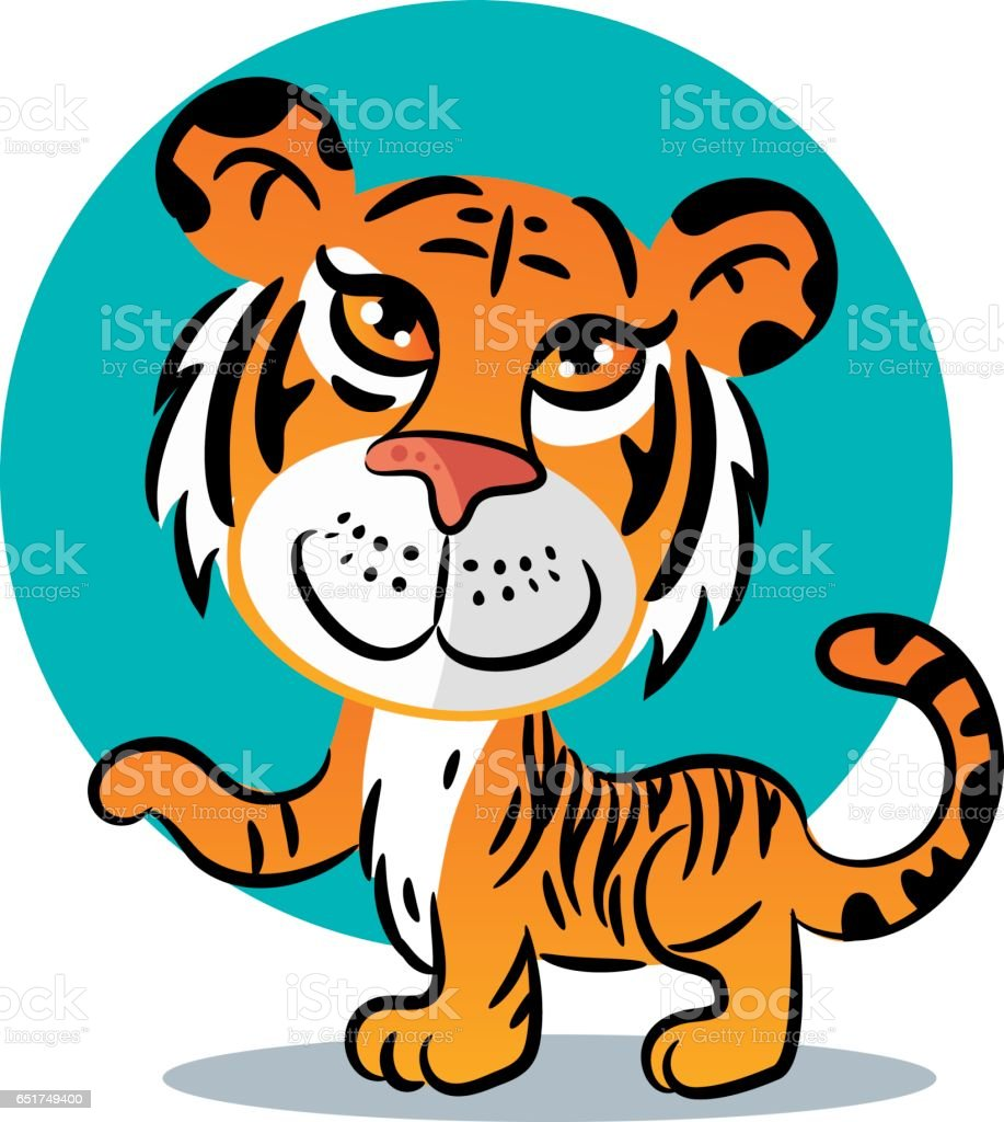 Young Tiger vector art illustration