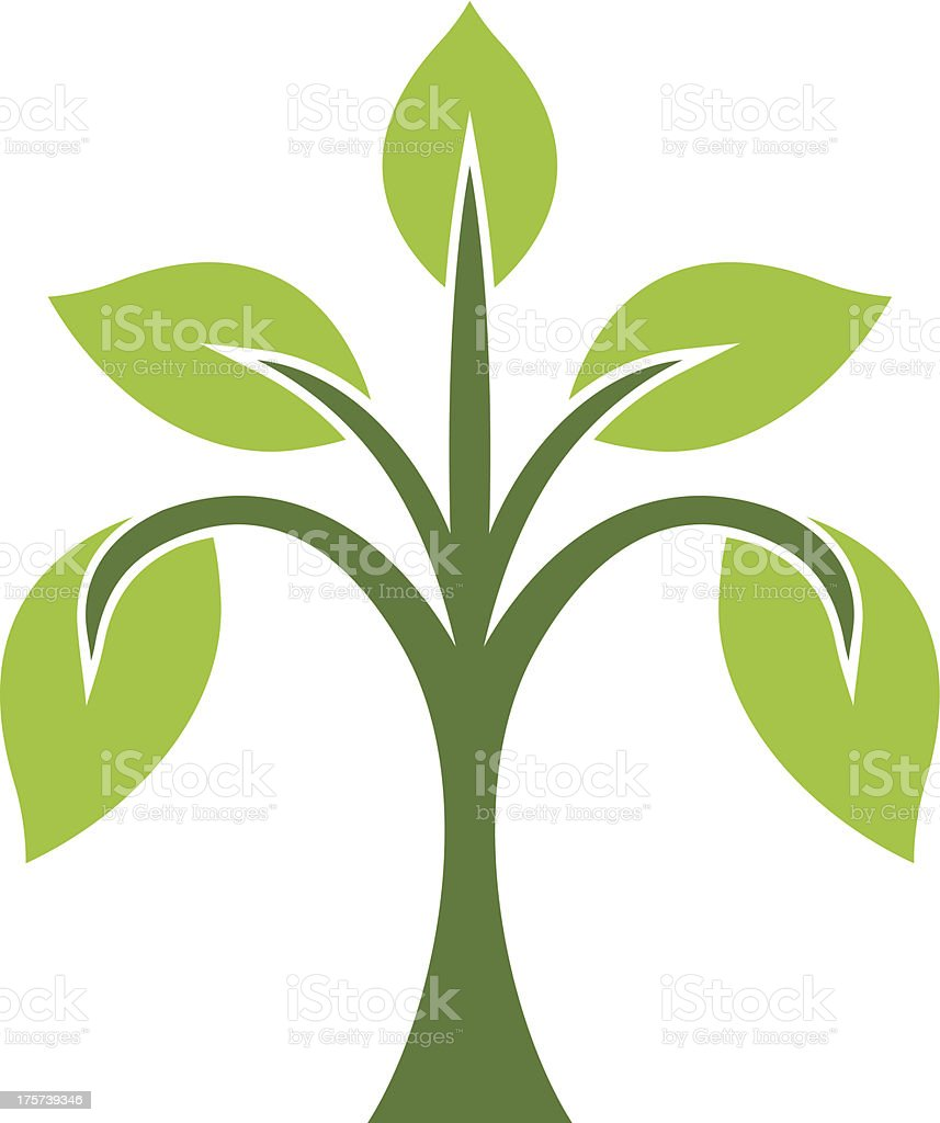 Young tree royalty-free stock vector art