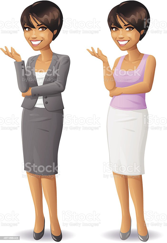 Young Woman Business and Casual vector art illustration
