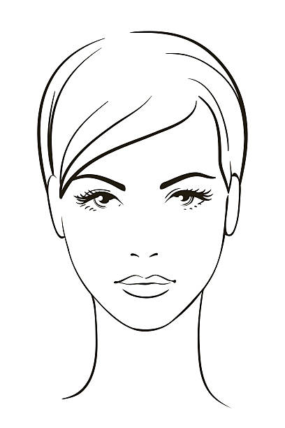 Line Drawing Face Vector : Human face clip art vector images illustrations istock