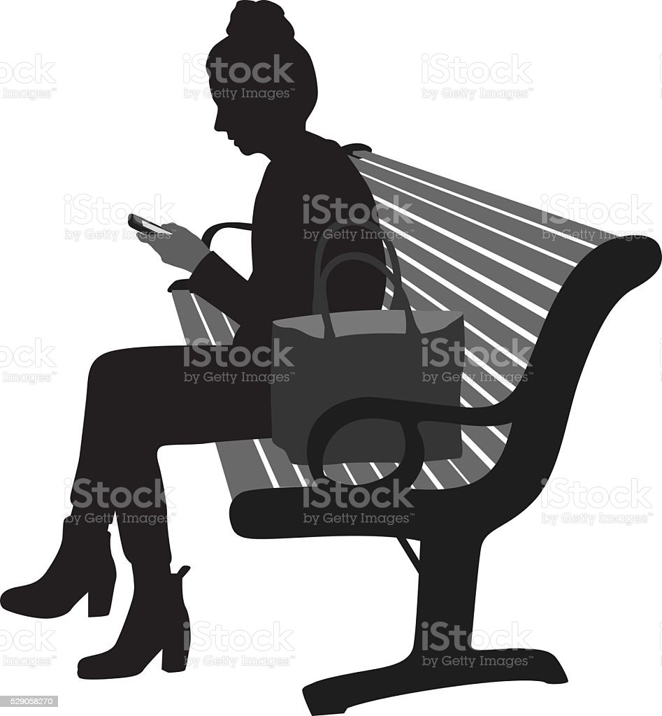 Young Woman Socializing vector art illustration