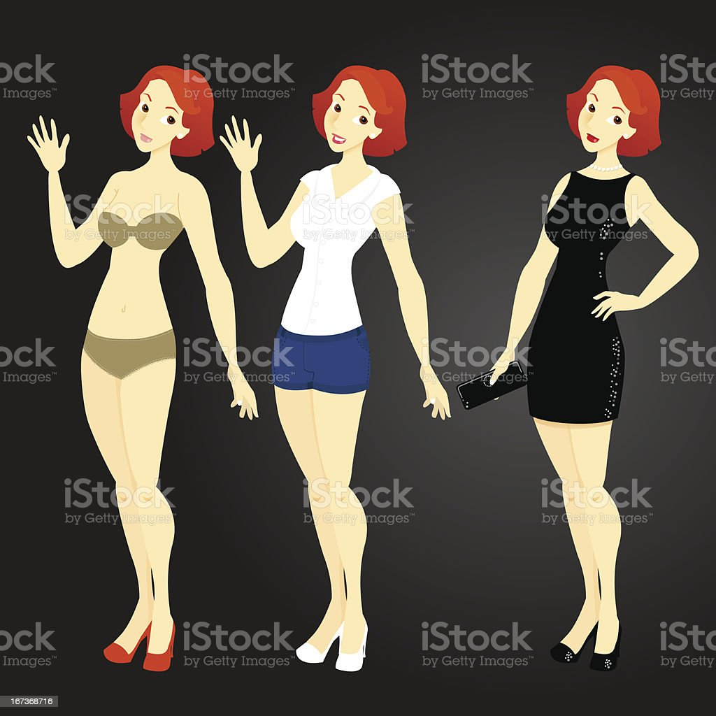 Young Woman Template royalty-free stock vector art