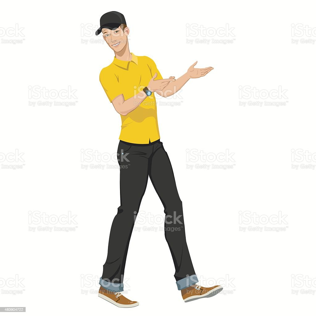 young worker man royalty-free stock vector art