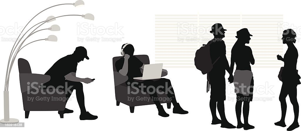 Younger Vector Silhouette royalty-free stock vector art