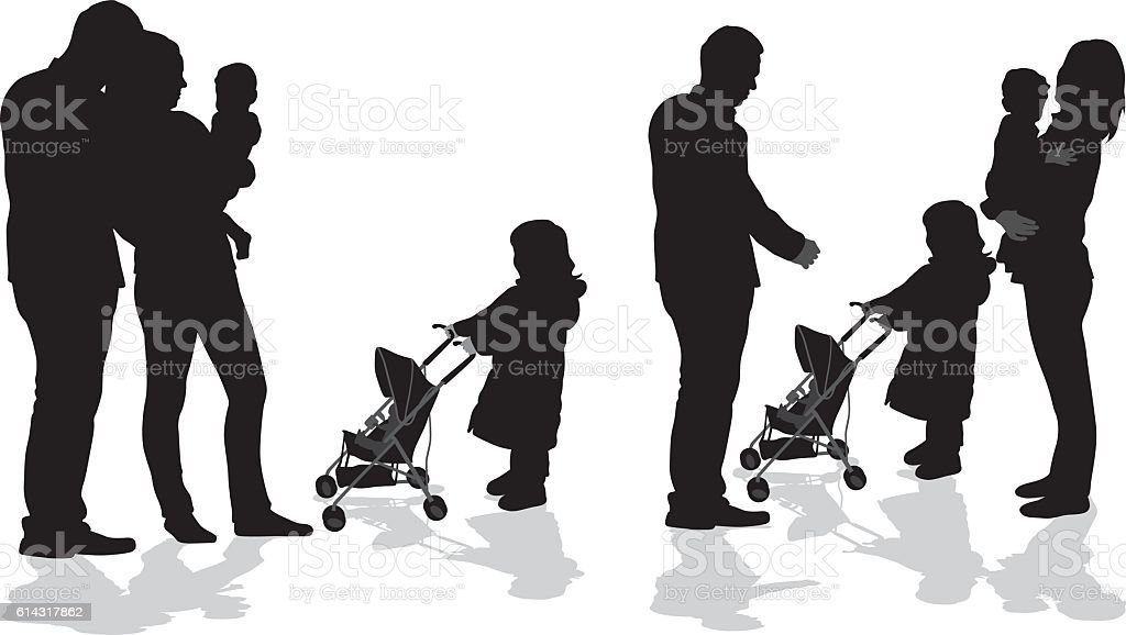 Your Baby And My Doll vector art illustration