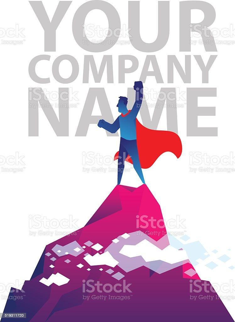 Your company copy space vector art illustration