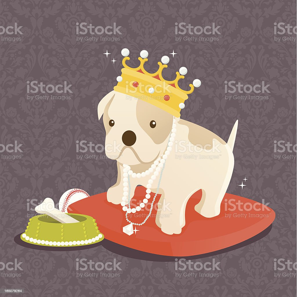your highness: our pampered pets royalty-free stock vector art