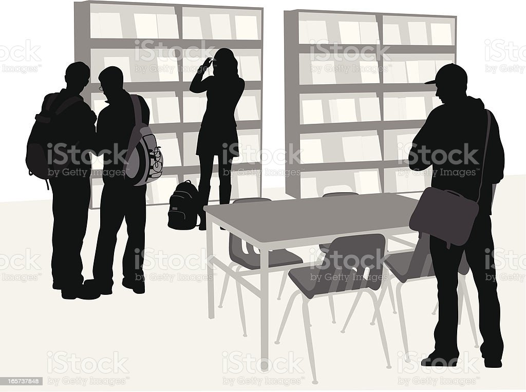 Your Library Vector Silhouette royalty-free stock vector art
