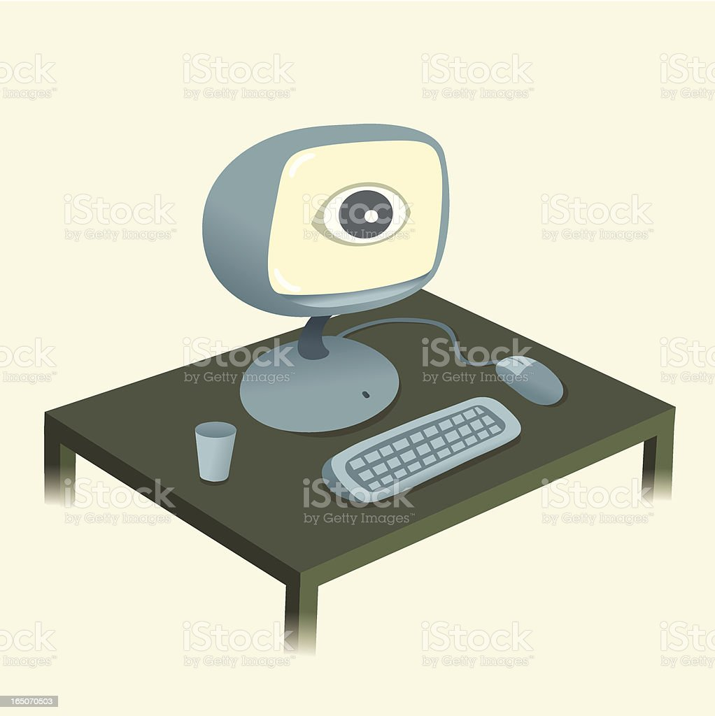 Your Monitor is Monitoring You royalty-free stock vector art